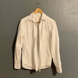 Men's White Casual Button Up Shirt